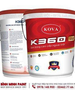 SƠN KOVA BÓNG CAO CẤP NGOÀI TRỜI K360 - NEW (20KG)