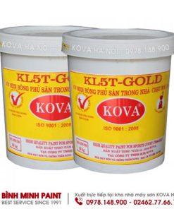 Sơn men bán bóng phủ sàn KOVA KL5T GOLD1