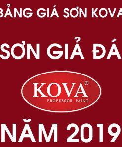 Bảng giá sơn giả đá hạt Kova mới nhất năm 2019