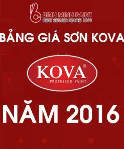 Bảng giá sơn Kova mới nhất năm 2016