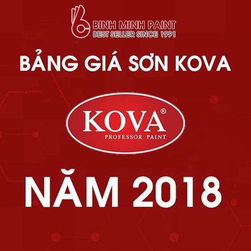 Bảng giá sơn Kova mới nhất năm 2018