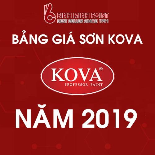 Bảng giá sơn Kova mới nhất năm 2019