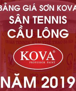 Bảng giá sơn sân tennis, cầu lông thể thao kova mới nhất năm 2019 02