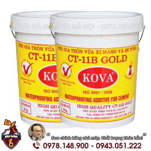 Phụ gia Kova trộn vữa bê tông xi măng CT11B - Gold (20kg)