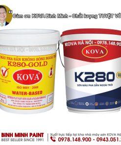 SƠN KOVA NGOÀI TRỜI MÀU ĐẬM PHA SẴN KOVA K280 - COMBO (4KG)