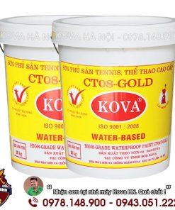 Sơn Kova sân tennis sàn thể thao đa năng màu Nhiều Màu CT08 - Gold (20kg)