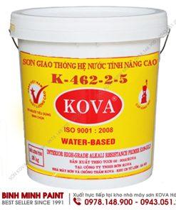 Sơn KOVA kẻ vạch bê tông nhựa, bê tông xi măng, tấm chắn con lươn K462 (A9) - 263A Màu đỏ