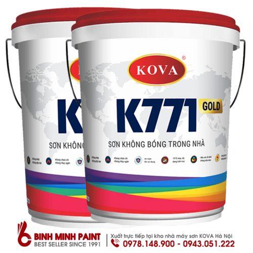 SƠN KHÔNG BÓNG TRONG NHÀ KOVA K771 - NEW (20KG)